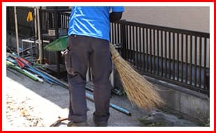 お家の簡易清掃作業