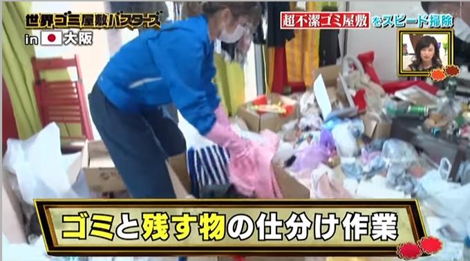 日本のお掃除軍団が行く!世界ゴミ屋敷バスターズ!で紹介された映像